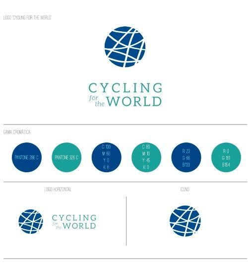 Identidad corporativa Cycling for the world
